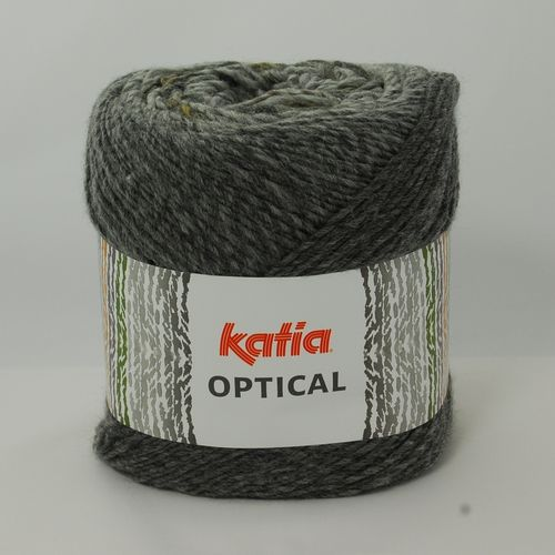 OPTICAL von Katia 150g Wolle Fb. 500 Grau - Rehbraun